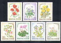 Hungary 1973 Wild Flowers/Plants/Nature/Rose/Cyclamen/Violet 7v set (n36806)