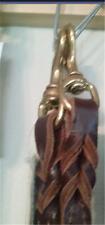 Latigo Leather Twist Dog Lead Brass 3/4 X 6 Black/Scott