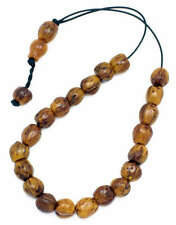 Worry Beads ~ Komboloi~Scented Nutmeg Seeds Light Brown