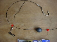 """FOUR MUSTAD REDFISH RIGS WITH 36"""" LEADER 2OZ SLIP EGG WEIGHT TO 8"""" OF 7/0 HOOK"""