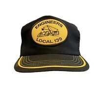 Vintage Snapback Hat Engineers Union Local 139 Mesh King Louie USA Made VTG 80s