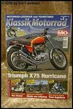 Klassik Motorrad 2/08 MZ Re 250 Triumph Hurricane Guzzi