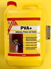 SIKA PVA+ Adhesive, Primer & Sealer General Purpose Bonding Agent  5Litre