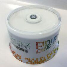 100PK Power Disc 8x White Inkjet Printable DVD+R DL Dual Layer Disc Media 8.5GB