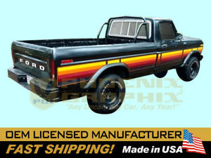 compatible with, 1977-1979 Ford F100 F150 F250 Ranger Free Wheeling TK Stripes