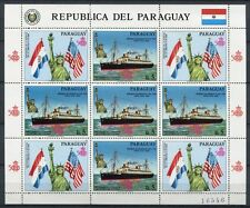 PARAGUAY 1986 Freiheitsstatue Schiff Ship Flaggen Flags 4009 Kleinbogen ** MNH