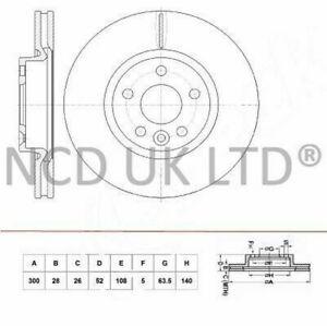 JURATEK FRONT BRAKE DISC FOR FORD MONDEO TURNIER 1.8 TDCI 1753CCM 125HP 92KW