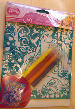 NUOVO Disney Princess Glitter foto con 4 PENNE-colore nella foto Glittery