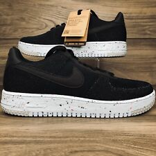 Nike Air Force 1 Crater FLYKNIT 'Black Chambray Blue' Size 12 Mens (DC4831 001)