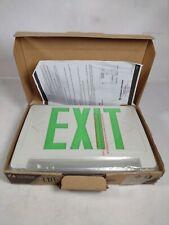 Lithonia Lighting Ecbg Led M6 120277v Led Exit Sign Withemergency Lights Green
