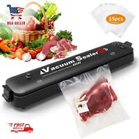 Vacuum Sealer Machine for Food Preservation with 15 Pcs Saver Bags,14.5x3x1.9 In