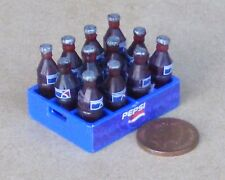 1:12 Scale 12 Pepsi Bottles Fixed Into A Plastic Crate Tumdee Dolls House Drink