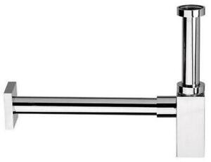 Quadratischer Sifon Siphon Traps chrom mit Geruchsverschluss Reinigungsfunktion