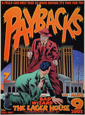 ORIGINAL MINT 05 THE PAYBACKS BADWIZARD DETROIT CONCERT POSTER CHUCK SPERRY JC23