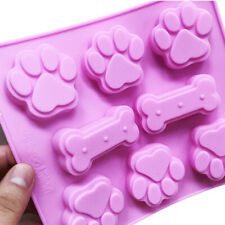 Silicone Bone & Cat Dog Paws Chocolate Mould Ice Cube Tray Candy Cookies Mold