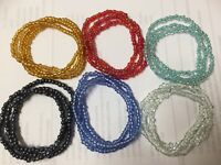 Wholesale Lot of 18 mix color glass seed beaded Stretch Bracelets multistrand