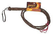 INDIANA JONES Movies 6 Foot Leather Whip Costume Accessory Licensed NEW UNUSED