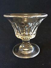 Verre liqueur Charles  H 6,3 cm cristal Louis Philippe 1 côtes plates Circa 1839