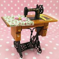Vintage Miniature Sewing Machine Accessory Room 1:12 Furniture Doll House Toys