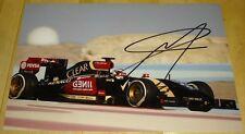 Pastor Maldonado Formula uno F1 LOTUS Hand Signed Autograph Foto 12x8