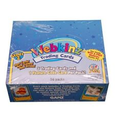 4 LOT TRADING CARD BOXES WEBKINZ SERIES 2 SEALED 36 PACKS PER BOX LOVE PUPPY