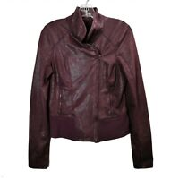 Zella Purple Snakeskin Full Zip Jacket Moto Style Long Sleeve Womens Sz Medium M