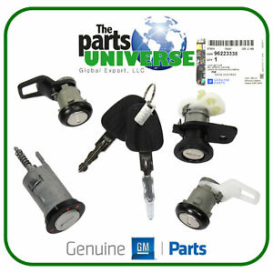 GM Ignition switch Set Fits Daewoo Lanos Nubira Tacuma Matiz Cielo 96223338