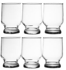 6 LAV STELLA VERRE 27.5CL,Extra Thick Base FOOTED TUMBLERS CUPS, 11X7 CM, 275ML