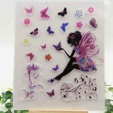 Fairy Butterfly Rubber Stamps Cardmaking Scrapbooking Art Crafts DIY Card Making