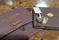 $695 JOHN HARDY .925 SILVER/PAVE DIAMOND RING w/pouch SIZE 7 NWT