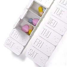 1× 7 Tage Pillenbox Pillendose Tablettenbox Medikamenten Lagerung Veranstalter
