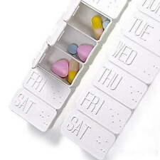 Large 7Day Pill Pills Medicine Tablet Week Box Dispenser Holder Organizer Case #