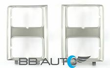 85-88 CHEVY PICKUP BLAZER SUBURBAN DUAL RECTANGLE HEADLIGHT BEZEL TRIM NEW SET