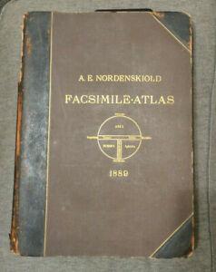 Nordenskiold Facsimile Atlas 15th 16th century 1889 folio free S/H