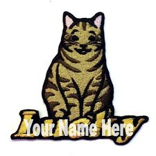 Tabby Cat Custom Iron-on Patch With Name Personalized Free