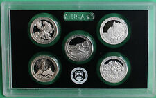 2012 America the Beautiful Quarters 90% Silver Proof Set 5 ATB Coins ONLY