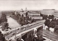 AK München Ludwigsbrücke Deutsches Museum Brücke Straßenbahn