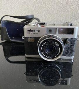 Minolta Hi-Matic F Silber Rokkor 38mm Mit Tasche