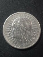 Poland 1932  First Republic  2 zlote  75% silver  22mm  circulated  coin...