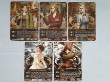 5 Different Resident Evil Deck Building Game DBG Promo Cards MINT! Rebecca, Hunk