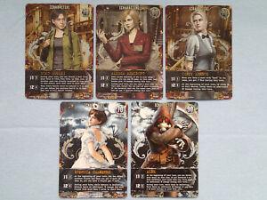 5 Different Resident Evil Deck Building Game DBG Promo Cards MINT! Rebecca, Hunk