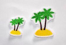 2 Palmen  Aufnäher Applikation Insel