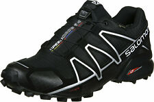 Salomon Women's Speedcross 4 Trail Running Shoes, Blk/Blk/BLACK METALLIC, 6.5