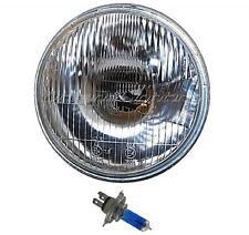 "7"" Stock Style Lens H4 Motorcycle Headlight Halogen 60/55W Light Bulb Headlamp"