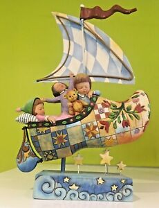 JIm Shore  Figurine  Heartwood Creek  Sailed Off in a wooden Shoe 2006