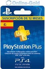 PlayStation Plus Tarjeta 365 Días PSN PS4 12 Meses 1 Año Suscripción España