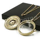 Antique Vintage Design Compass 5x Magnifying Glass Locket Pendant Necklace