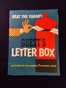 Vintage Guest's Biscuits Channel 7 Word Game Competition Australia Ad Arnott's