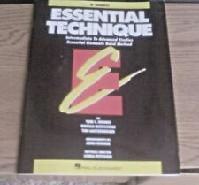Essential Technique Intermediate to Advance Studies Band Method for Bb Trumpet