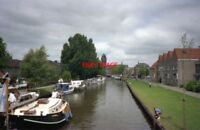 PHOTO  NETHERLANDS OUDEWATER 1989 CANAL CANAL VIEW